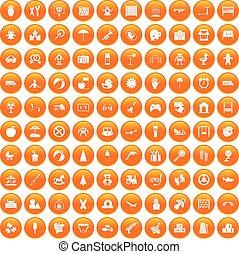 narancs, 100, állhatatos, gyermekkor, ikonok