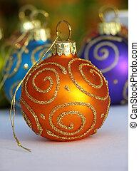 narancs, christmas bauble