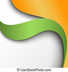 narancs, elvont, dolgozat, zöld háttér