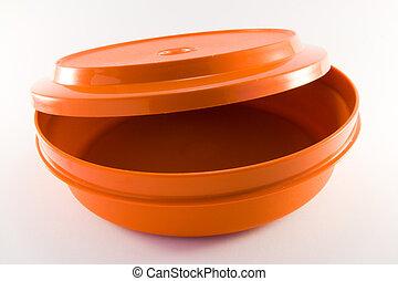 narancs, konténer, műanyag