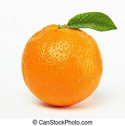 narancs, levél növényen