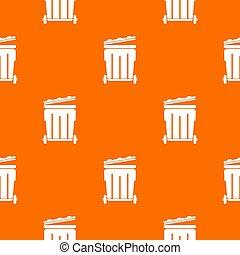 narancs, motívum, utca, konténer