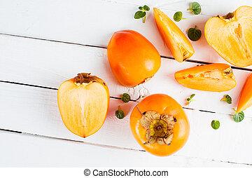 narancs, persimmons, finom