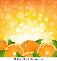 narancs, rövid napsütés, háttér