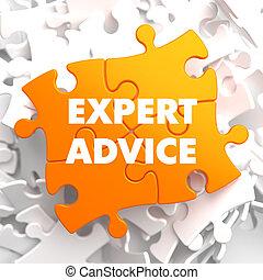 narancs, tanács, puzzle., szakértő