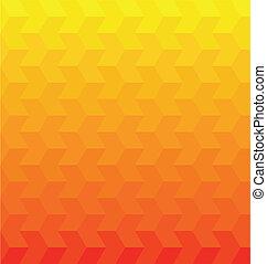 narancs, vektor, geometriai, háttér