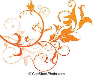 narancs, virágos, elvont