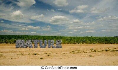 nature., felírás, megkövez, 47, oltalmaz, environment.
