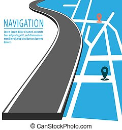 navigáció, mutató, gombostű