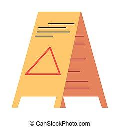 nedves, aláír, figyelmeztetés, emelet, figyelmeztet