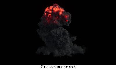 nehéz, elbocsát, sűrű, felrobbanás, dohányzik