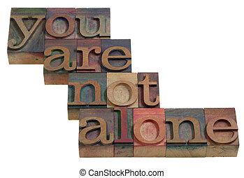 nem, egyedül, ön