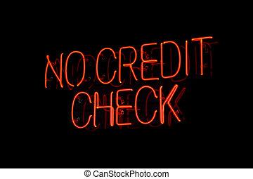 nem, kölcsönad, szüret, aláír, neon, ellenőriz, hitel