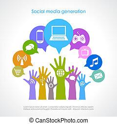 nemzedék, média, társadalmi