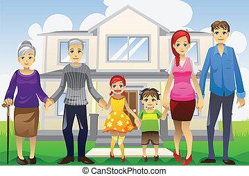 nemzedék, multi-, család