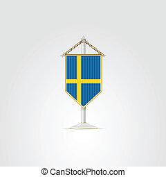 nemzeti, ábra, jelkép, countries., sweden., európai