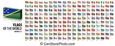 nemzeti, ábra, zászlók, vektor, white háttér, countries.
