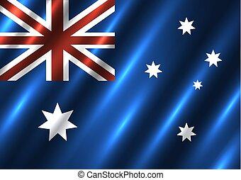 nemzeti, australia lobogó, háttér