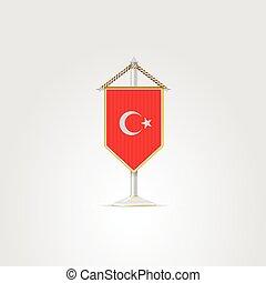 nemzeti, countries., jelkép, ábra, turkey., ázsiai