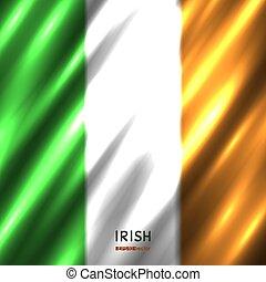 nemzeti, háttér, lobogó, ír