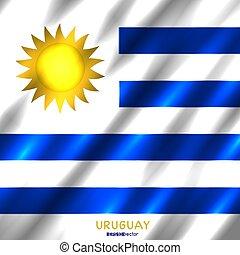 nemzeti lobogó, háttér, uruguay