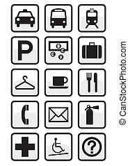 nemzetközi, állhatatos, szolgáltatás, signs.
