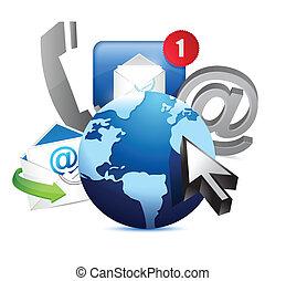 nemzetközi, földgolyó, fogalom, kommunikáció