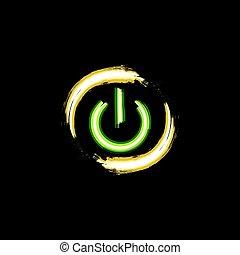 neon, gombol, el