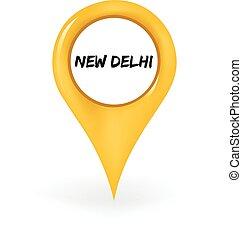 new delhi, elhelyezés