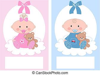 newborn csecsemő, leány, fiú