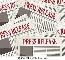 newsletters, elengedés, sajtó