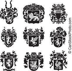 no4, címertani, állhatatos, körvonal