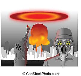 nukleáris, csapás