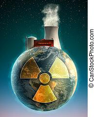 nukleáris, földdel feltölt