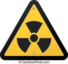 nukleáris, jelkép, sugárzás