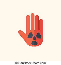 nukleáris, lakás, ikon
