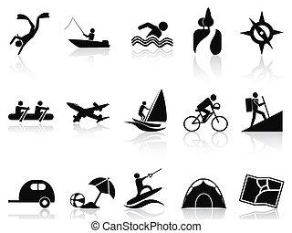 nyár, állhatatos, elfoglaltságok, ikonok