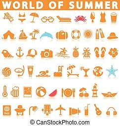 nyár, állhatatos, ikon