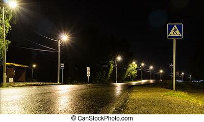 nyár, autóút, éjszaka