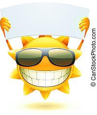 nyár, boldog, nap