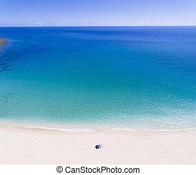 nyár, fogalom, antenna, szünidő, tropical tengerpart, kilátás