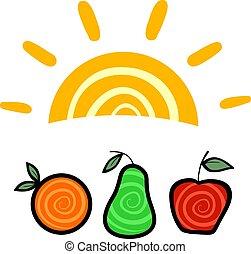 nyár gyümölcs, jelkép