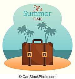nyár időmérés, bőrönd