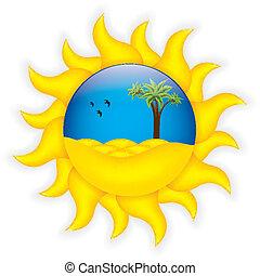 nyár, jelkép, tropikus