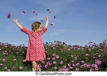 nyár, menstruáció, boldog, gyermek