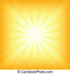 nyár, nap, derékszögben, csillogó szétrobbant