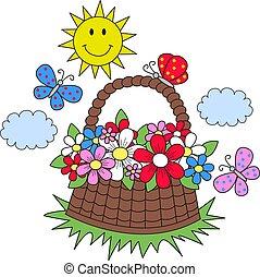 nyár, pillangók, menstruáció, nap