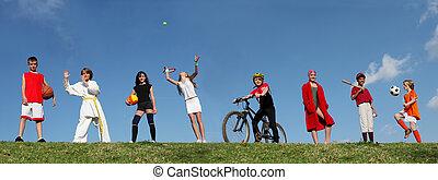 nyár sport, tábor, gyerekek