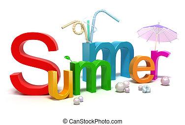 nyár, színpompás, szó, irodalomtudomány