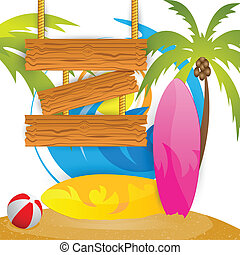 nyár, szörfözás, tábor